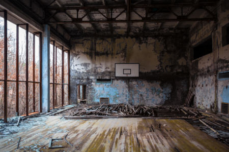 Devasted Court, Prypiat, 2017